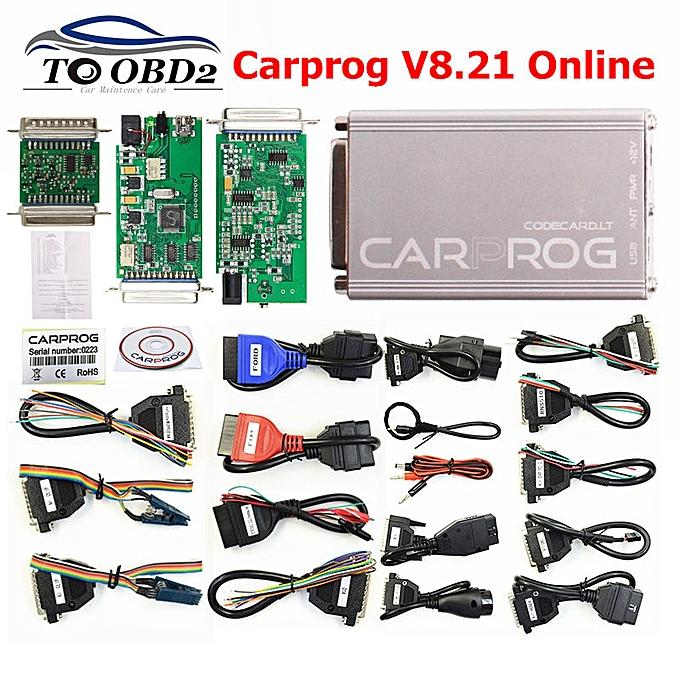 V8 21 Version V10 93 Car ECU Repair Tool Car Prog 8 21 Perfect Add  Authorization 21 Adapters Full Sets