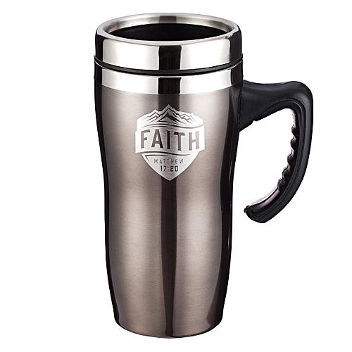 aec2748ba5f FAITH- Stainless Steel Travel Mug