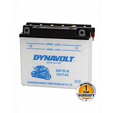 Motorcycle High Performance With Acid Pack Battery  - DB7-B - White