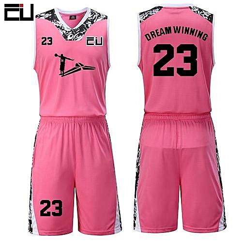 15f1b807b Eufy High Quality Men s Customized Team Basketball Sport Jersey Uniform -Pink(JY-1622)