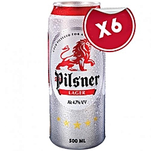 Lager Can - 500 ml 6 Pack