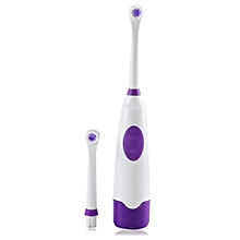 Electric Oral Hygiene Dental Care Toothbrush with 2 Brush Heads (PURPLE)