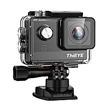 T5e WiFi 4K 30fps Action Camera 12MP Built-in 2 inch TFT LCD Screen Time-Lapse Videos Ambarella A12LS75 Chipset-BLACK