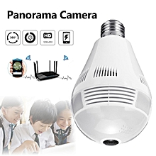 360° Panorama Fisheye Camera Lamp IP CCTV Monitor Light Bulb WIFI Night Vision