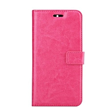 "For OnePlus 3 Case, Slim Holster Soft Flip Leather Cover With Card Slot Stand Function For 5.5"" 1+ One Plus Three, Rose"