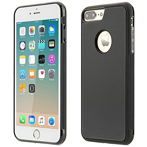 Zmurud Anti-Gravity Selfie Case Magical Nano Sticky Hard Case For Apple iPhone 7 Plus 5.5inch_Black