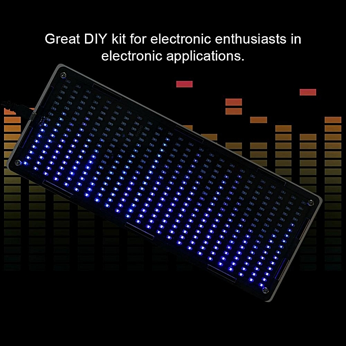 DIY Kits 384Pcs LED Lights Digital Audio Music Spectrum Analyzer Display  With Shell