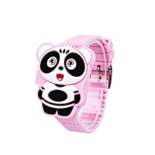 Children Kids Watch Cartoon Animal LED Digital Silicone Electronic Flip Watch