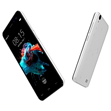 """Homtom HT16 5"""" (1GB,8GB ROM), Android 6.0, 5MP + 2MP 3G Smartphone - White"""