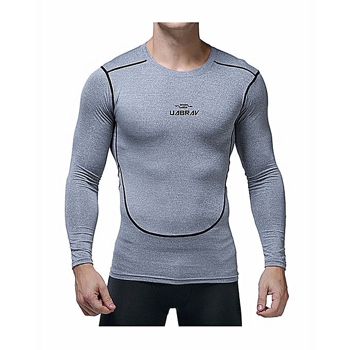 9a67636d Men's Quick Dry Long Sleeve T-Shirt Running Fitness Shirts Workout Athletic  Compression Shirts
