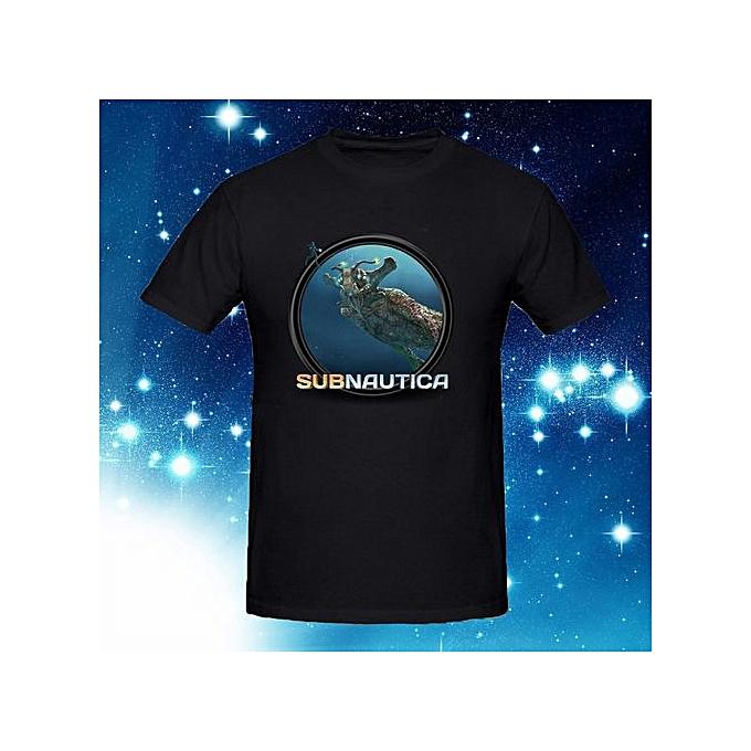 Mens Subnautica Icon Art T Shirt Male Short Sleeve Cotton Top