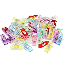 250 PCS Colorful Sewing Craft Quilt Binding Plastic Clips Clamps Pack