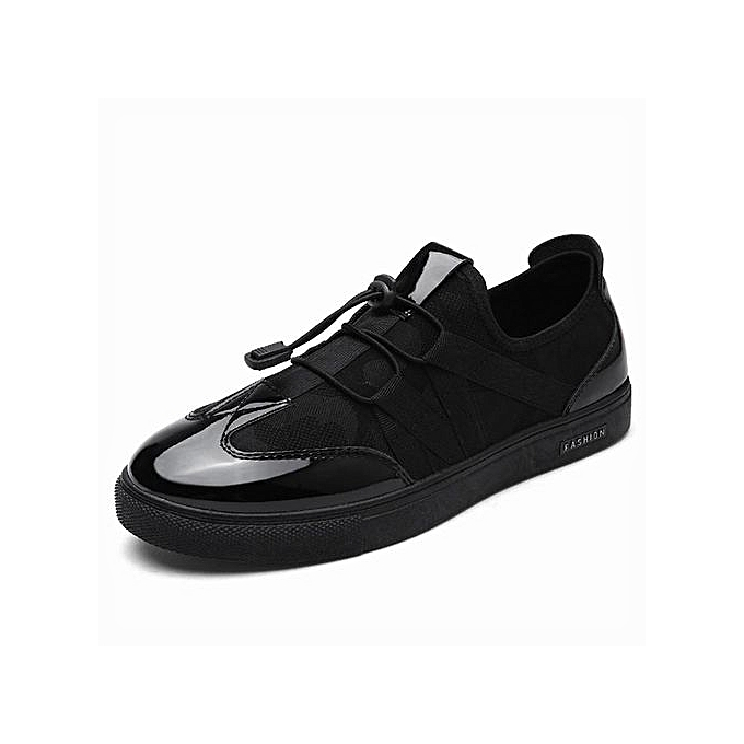 dd9d7b1cad002 Mens Running Shoes Lace Up Athletic Shoes Outdoor Walkng Jogging  Sneakers-Black