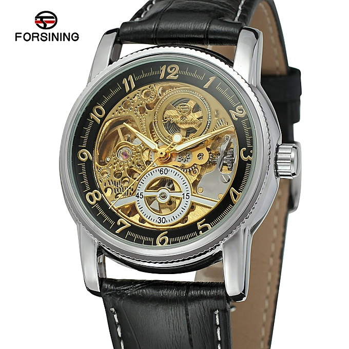 fb9bbc4f4 FORSINING Watches Men Classic Design Transparent Hollow Skeleton Automatic  Mechanical Watches