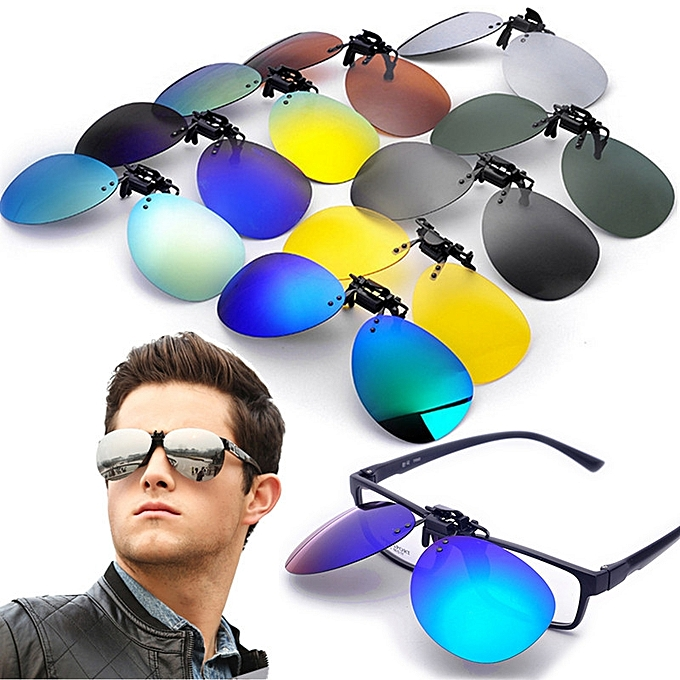 2e1af42294 Polarized Clip On Sunglasses Lens Fishing Night Driving UV400 Quicksilver