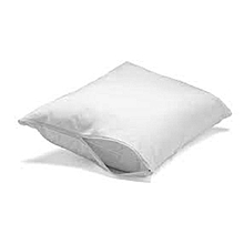One Piece White Waterproof Washable Pillow Protector