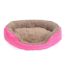 Puppy Pets Dog Cat Bed House Warm Soft Dog Nest Mat KennelPet supplies RoseRed  S