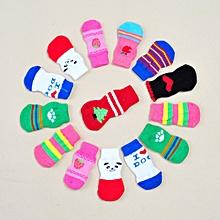 Dog Socks Pet Cotton Socks Wear-resistant Non-slip Korean Fashion Casual Socks colorful  M