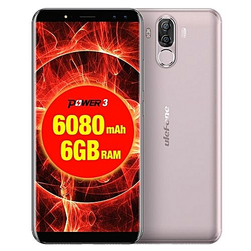 Power 3 6GB+64GB Dual Back Cameras + Dual Front Cameras 6.0 Inch Android 7.1 MTK6763 Octa-core 2.0GHz Dual SIM 4G Smartphone(Gold)