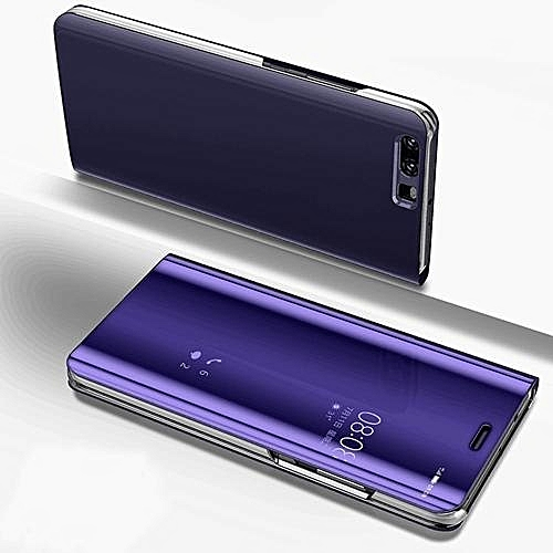 free shipping 380ce b0b5e Luxury Clear View Mirror Smart Case For Huawei P10 Leather Flip Stand Case  For P10 Cover Bag 317435 Color-3