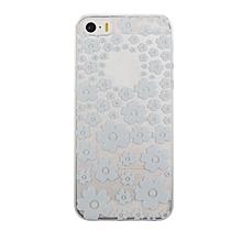 Henna Mandala Flower Dance Clear Hard Case Cover Skin For iphone 5C-White