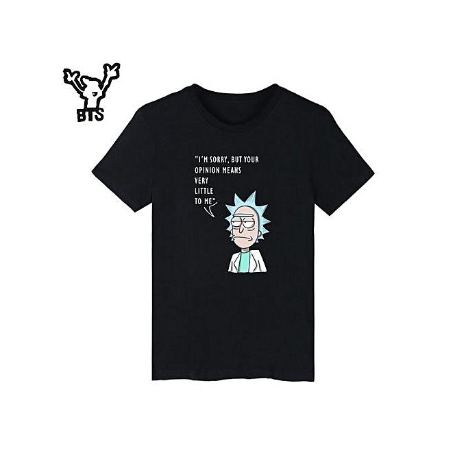 e47e2e21 New Fashion Men Rick And Morty T-shirt Men Short Sleeve USA Funny Cartoon  Cotton