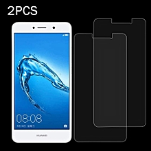 2 PCS Huawei Y7 0.3mm 9H Surface Hardness 2.5D Explosion-proof Non-full Screen Tempered Glass Screen Film