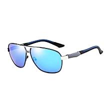 Men Fashion Uv400 Aluminium-magnesium Alloy Frame Polarized Sunglasses (silver + Blue)