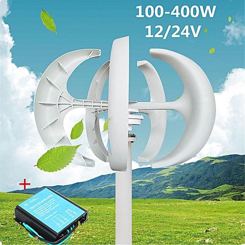 100W-300W 24V Vertical Axis Wind Turbine Generators VAWT House Boat Garden