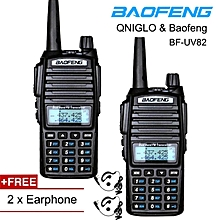 2 Units BaoFeng UV-82 Handheld Walkie Talkie Dual Band Two Way Radio