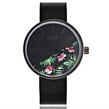 Olivaren CCQ Women's Casual Quartz Leather Band Newv Strap Watch Analog Wrist WatchBlack