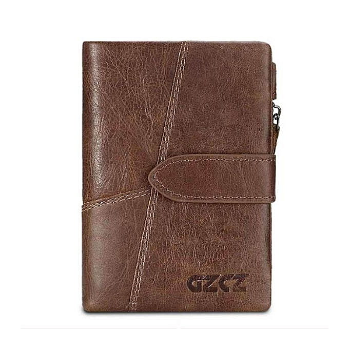 38684097130e Genuine Leather Luxury Brand Card Clamp Vintage Male Wallets