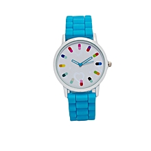 Light Blue Rubber Strap Women&#039 ...