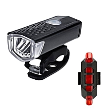 USB Rechargeable LED Bike Bicycle Cycling Headlight Front Light Tail Rear Lamp Outdoor