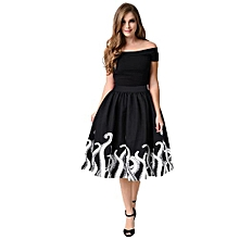 Women's Octopus Squid Fancy Print Pattern Mini Knee Length Skater Skirt