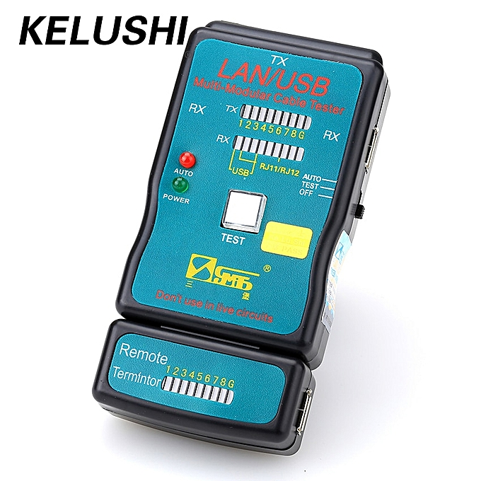 Flat Network Ethernet Cable Tester RJ45 Kit Crimping Tool Network Computer  Maintenance Repair Tool Kit Cable Tester Cross AEPDT