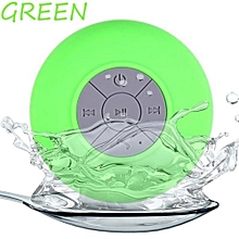 BTS-06 Water Resistant mini portable Shower Bluetooth Speaker with Sucker Support Hands-free Calls Function for All Mobile Phone(Green)