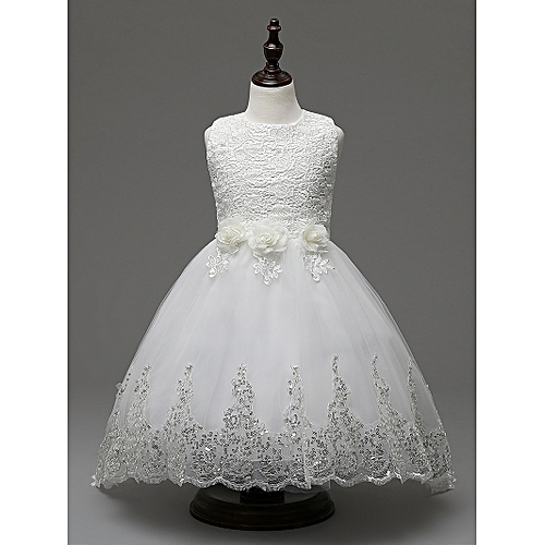 4cd9131c118 Fashion Baby Girl Dress Children Kids Dresses For Girls 2 3 4 5 6 7 8 9 10 Year  Birthday Outfits Dresses Girls Evening Party Formal Wear-white