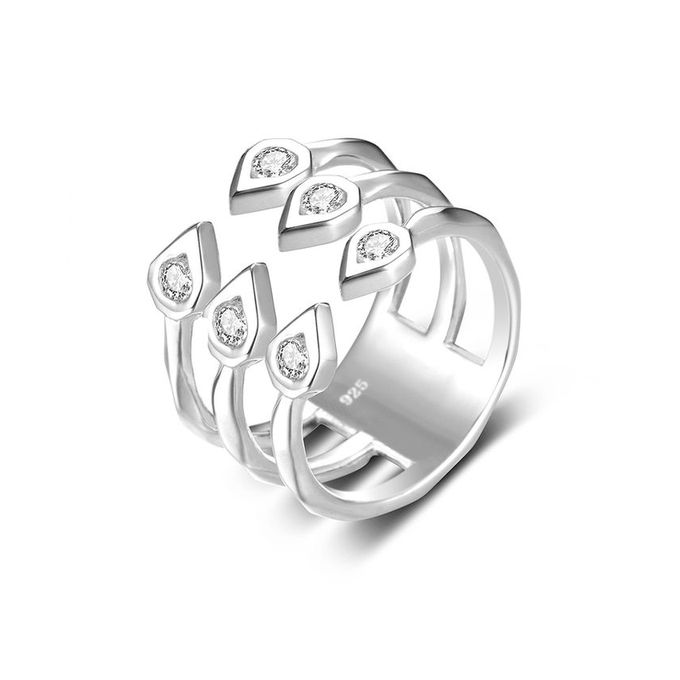 Generic JURE 925 Sterling Silver Ring Zirconia Shinning