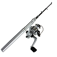 Fishing Rod Mini Portable Telescopic (Silver)