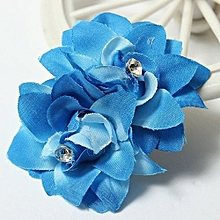 Women Charming Fancy Hair Bun Flower Clip Pin For Bridal Wedding Prom Party NEW Blue