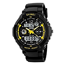 0931 Brand Men's Sports Watch Fashion LED Digital Quartz Wristwatches Casual Shock Resistant Outdoor Watches - Light yellow