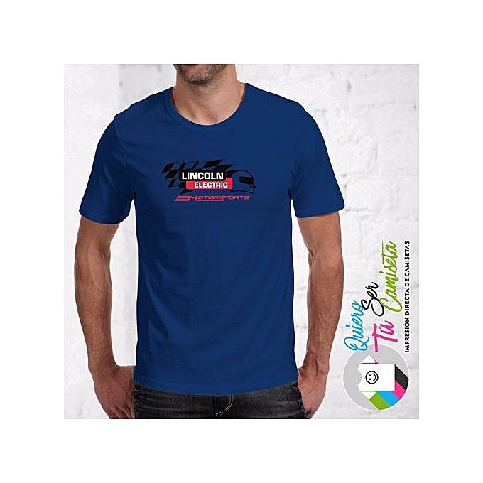 Camiseta Lincoln Electric Motorsports Printed T Shirt Cotton Men Clothes Plus Size