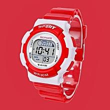 Tectores 2018 Fashion Multifunction Children Boys Digital LED Sports Watch Kids Alarm Date Waterproof Watch Gift