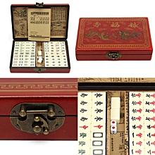 Rare Chinese 144 Mah-Jong Set/& Bamboo Piece with box