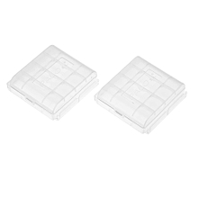 2PCS PALO Transparent AA Battery Storage Boxes Cases High-quality Containers Durable Plastic Battery Holders with Lids Hold 2 * 4 AA Batteries