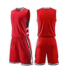 f47e92d65 Longo Men s Customized Blank Casual Basketball Team Sports Jersey Uniform -Red