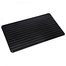 Practical Kitchen Cooking Tool Meat Food Defrosting Tray Fast Safe Thawing Metal Plate