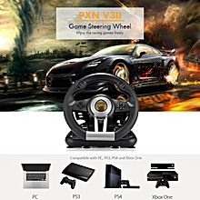 LEBAIQI PXN V3II game steering wheel USB wired Dual motors vibration wheel 180 degree steering for PC game and online game