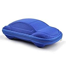 Kids Portable Car Shaped Glasses Case Box(Blue)